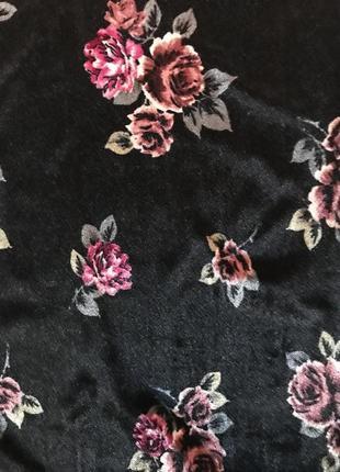 Сукня велюр квіти