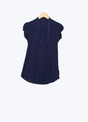 Летняя блуза/рубашка с воротником под горло