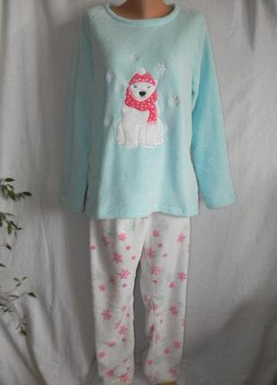 Теплая пижама большого размера