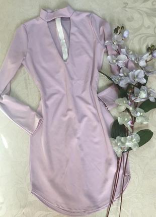 Нежно-лавандовое платье!размер 10/38,длина 89 см