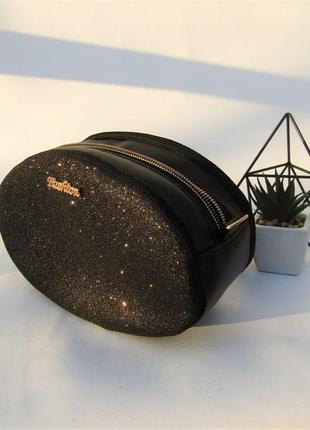 """Клатч - таблетка handmade """"черное сияние"""""""