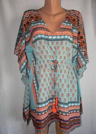 Яркое пляжное платье туника