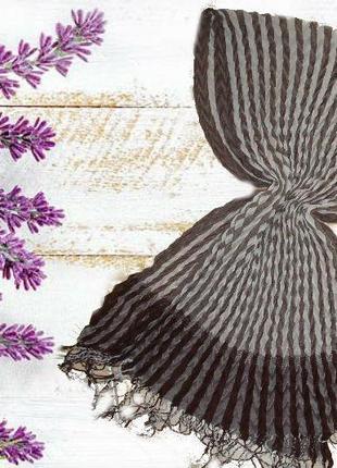 🐞🐞шарф женский плиссе в коричневых оттенках  с бахромой 🐞🐞🐞