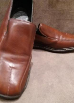 Комфортные кожаные туфли ..бренд --rieker-38-39