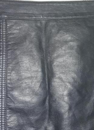 Юбка кожаная женская2 фото