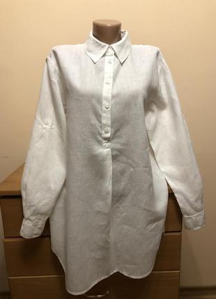 Льняная рубашка 100% лён maddison