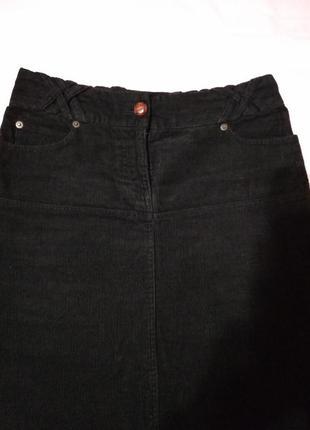 Длинная вельветовая юбка с карманами.2 фото
