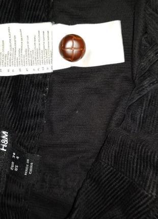 Длинная вельветовая юбка с карманами.5 фото