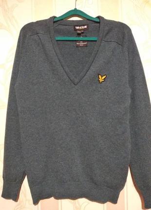 Шерстяной пуловер , 100% шерсть.