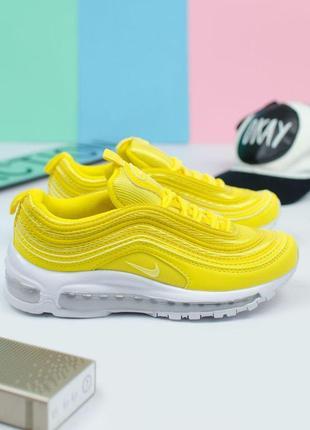 Шикарные женские кроссовки nike air max 97 yellow 😍 (весна/ лето/ осень)
