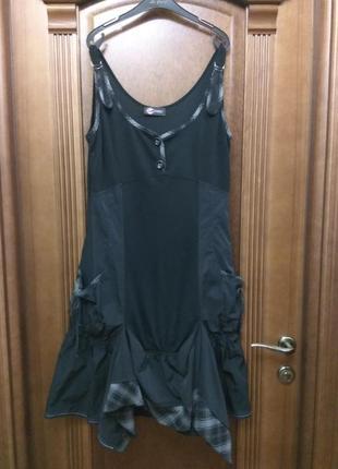 Стильное платье весна 48 размер