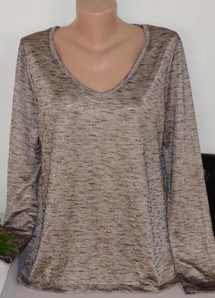 Брендовая блуза с длинным рукавом new look турция металлик вискоза