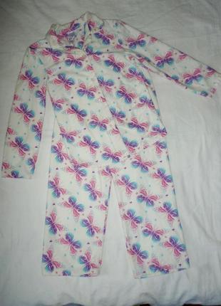 Флисовая пижама на 8-9 лет