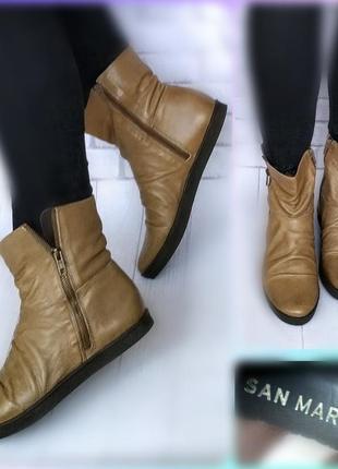 37-38р кожа!новые франция san marina,утепленные сапоги,ботинки
