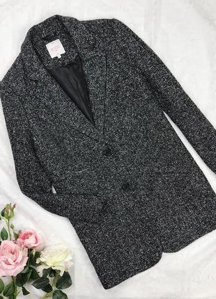 Серое легкое пальто полупальто жакет пиджак clockhouse
