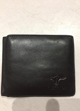 Мужской кожаный кошелёк из кожи кенгуру