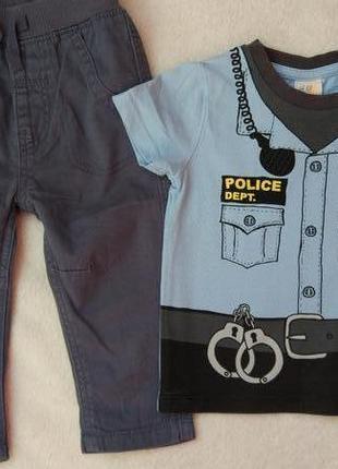 Комплект набор футболка и штаны брюки на 2-6 месяцев