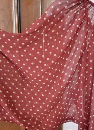 Блузка шифоновая в горошек р. s2 фото