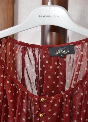 Блузка шифоновая в горошек р. s3 фото