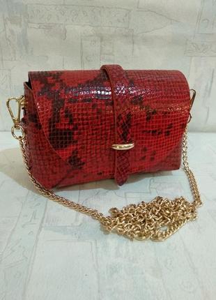 Маленькая симпатичная сумочка из натуральной кожи