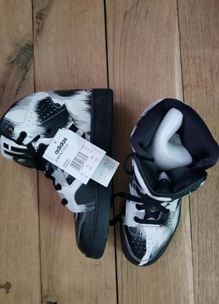 Adidas jeremy scott instinct high grey leopard black