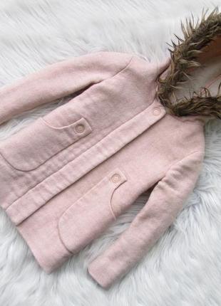 Стильная  пальто парка куртка  с капюшоном zara