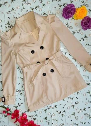 -50% на 2-ю единицу крутое трендовое бежевое пальто тренч f&f, размер 48 - 50