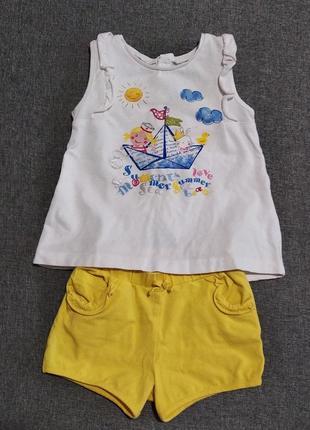 Mayoral костюм летний футболка шорты майка
