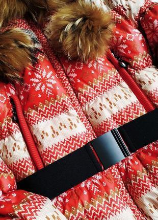 Зимний короткий пуховик, с мехом енота2 фото