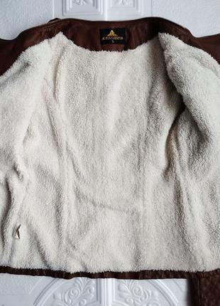 Демисезонная куртка косуха утепленная, из экокожи9 фото