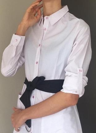 Платье- рубашка- халат, трендовое рубашечное платье х/ б2