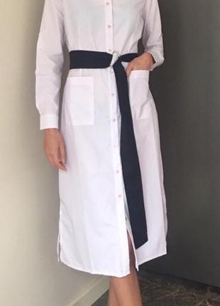 Платье- рубашка- халат, трендовое рубашечное платье х/ б3
