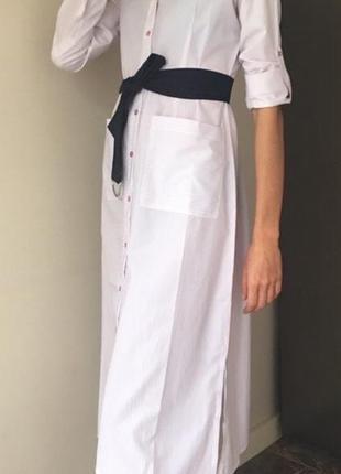 Платье- рубашка- халат, трендовое рубашечное платье х/ б4