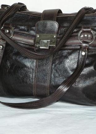 Varriale genuine leather италия кожаная сумка деловая шопер дорожная