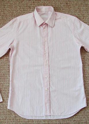 Prada рубашка под запонки made in italy оригинал (l) сост.идеал