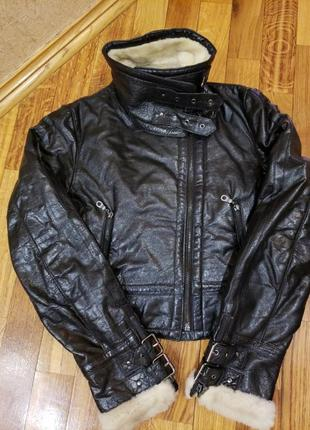 Кожаная куртка пилот