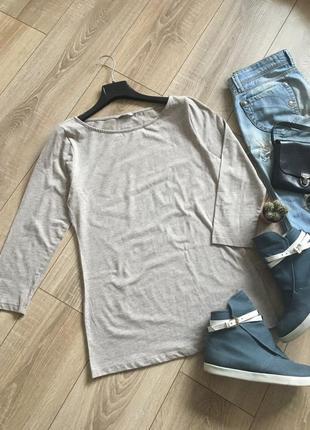 Базовый трикотажный лонгслив футболка с оукавом 3/4 от h&m