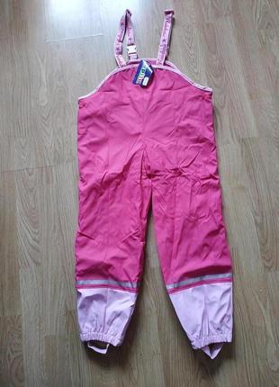 Полукомбинезон дождевик lupilu германия на девочку 6-8 лет , утеплитель флис.