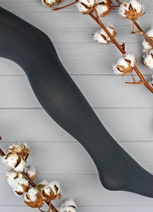 Итальянские темно-серые колготки из микрофибры 50 ден calzedonia