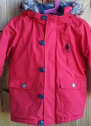 Деми куртка парка некст мальчику 3-4 лет, 104 см, на холодное межсезонье