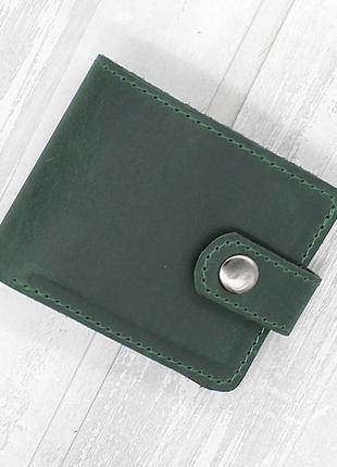 Портмоне кошелёк из натуральной кожи nine зеленый
