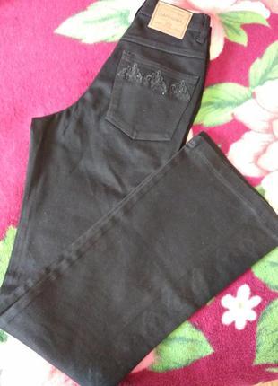 Черные джинсы с вышивкой на высокий рост2 фото