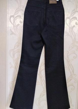 Черные джинсы с вышивкой на высокий рост6 фото
