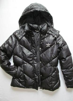 Пуховик женский черная куртка с капюшоном оригинал
