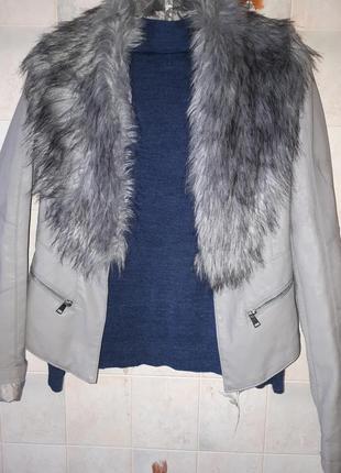 Куртка пиджак с мехом river island
