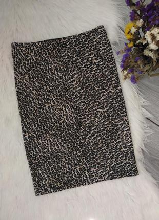 Bershka бершка юбка обтягивающая карандаш модный принт леопард