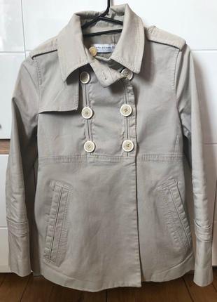 Короткое пальто - тренч/ куртка от zara