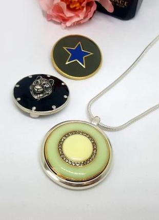 Универсальный магнитный кулон с 3-мя сменными монетками в наборе pilgrim дания1 фото