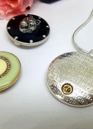 Универсальный магнитный кулон с 3-мя сменными монетками в наборе pilgrim дания3 фото