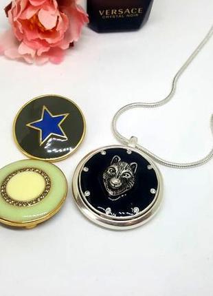 Универсальный магнитный кулон с 3-мя сменными монетками в наборе pilgrim дания4 фото